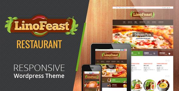 ThemeForest LinoFeast Restaurant Responsive Wordpress Theme 4762544
