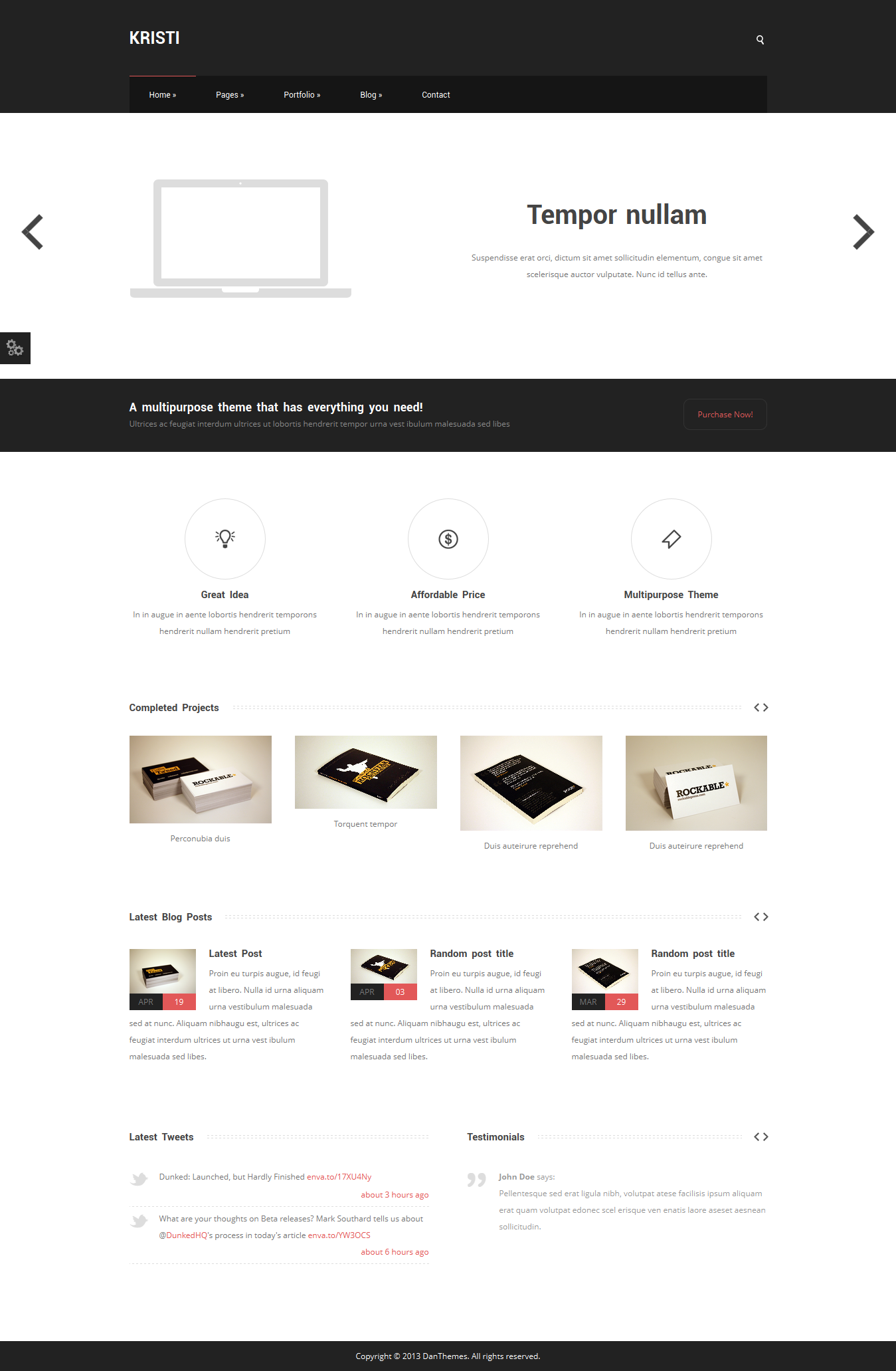 Kristi - Multipurpose Business Template