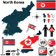 Map of North Korea - GraphicRiver Item for Sale