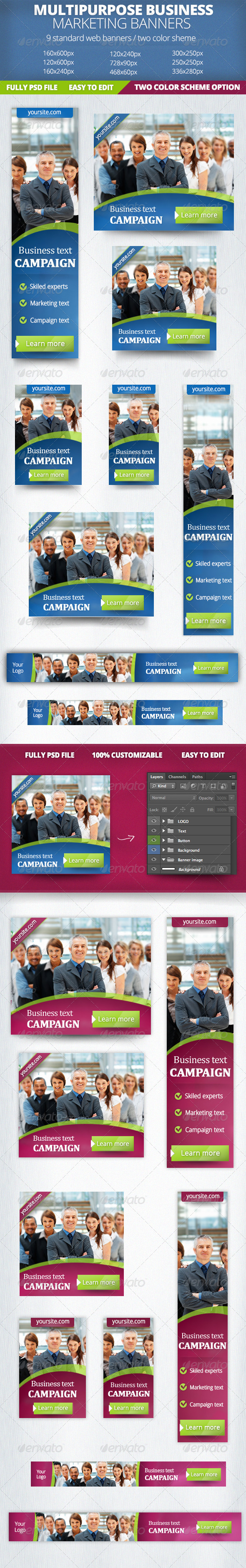 Business Marketing Banner - Banners & Ads Web Elements