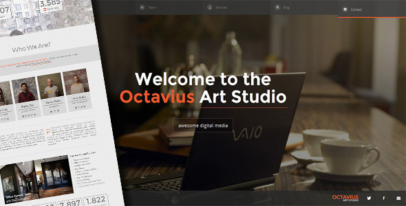 ThemeForest Octavius Responsive One Page Template 4770581
