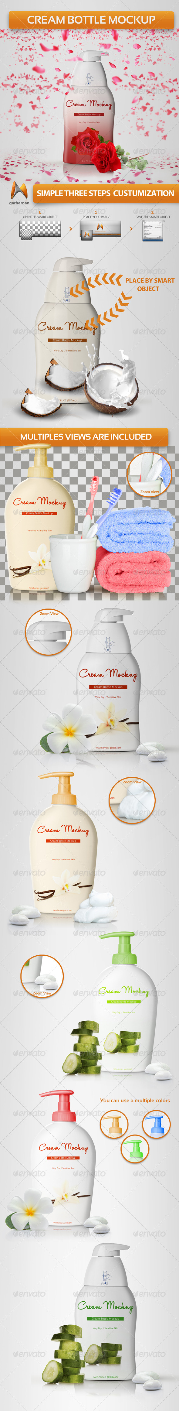 GraphicRiver Cream Bottle Mockup 4771829