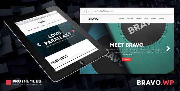 ThemeForest Bravo A Multi-Purpose One-Page WordPress Theme 4771875