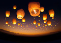 Flying Chinese Lanterns - PhotoDune Item for Sale