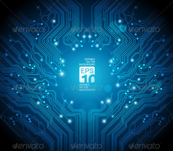 Abstract Circuit Board Background - 2 - Technology Conceptual