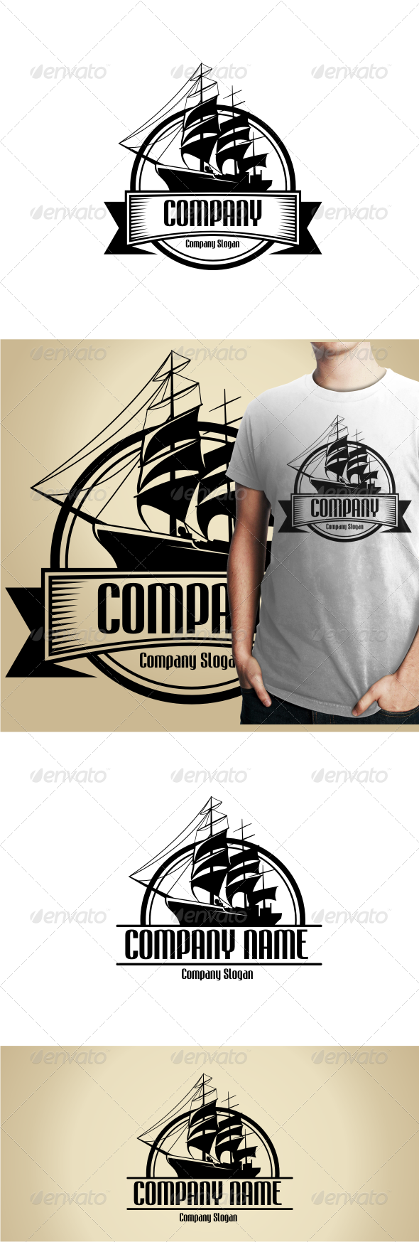 GraphicRiver Sailing Ship Logo Templates 4777438