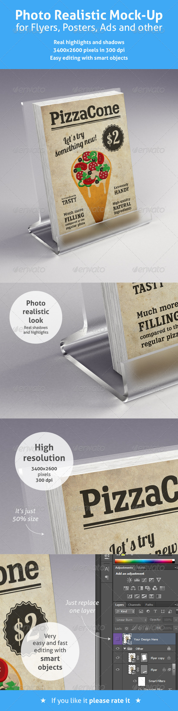 GraphicRiver Realistic Mock-Up for Flyers Posters and other 4778462