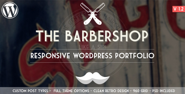 The Barbershop – Responsive WordPress Portfolio (Portfolio) images