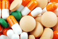 Pills of many shapes and colors grouped together - PhotoDune Item for Sale