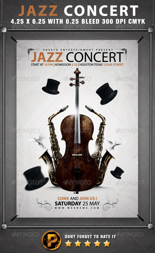 Jazz Concert Flyer Template - Concerts Events