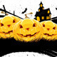 Grungy Halloween Background with Pumpkins - GraphicRiver Item for Sale