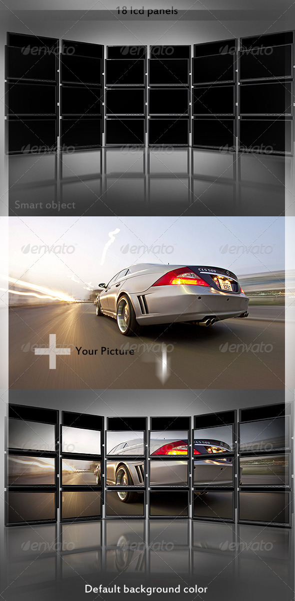 GraphicRiver Tweak My Photo Multi LCD Display 499116