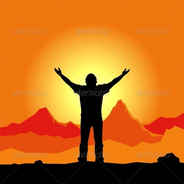 GraphicRiver Prayer Silhouette 4779288