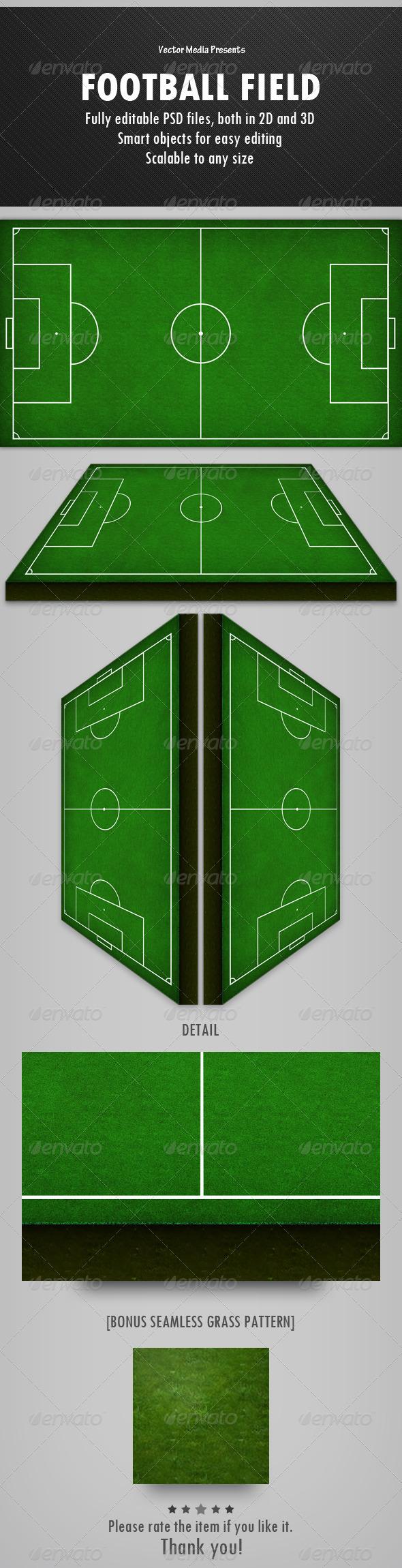 GraphicRiver Football Field 4779993