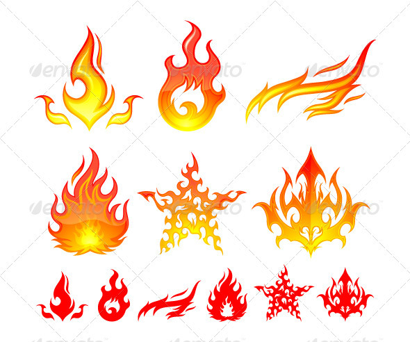 GraphicRiver Fire Elements 499193