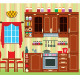 Picture of a Kitchen with a Window - GraphicRiver Item for Sale
