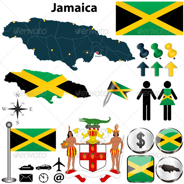 GraphicRiver Map of Jamaica 4780351