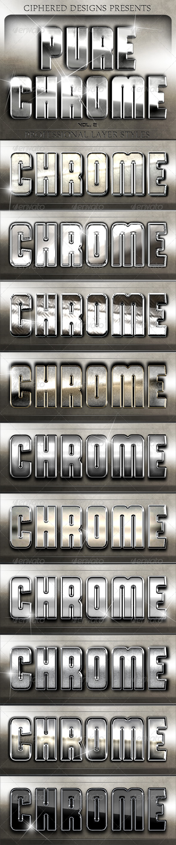 Pure Chrome 2 - Professional Layer Styles - Text Effects Styles
