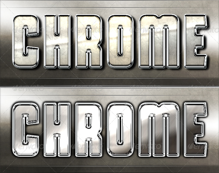 Pure Chrome 2 - Professional Layer Styles