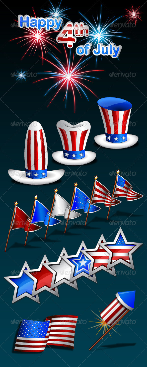 4th of July Celebration Vector Pack - Miscellaneous Seasons/Holidays