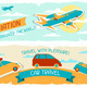Set of Tourist Designs in Retro Style. - GraphicRiver Item for Sale