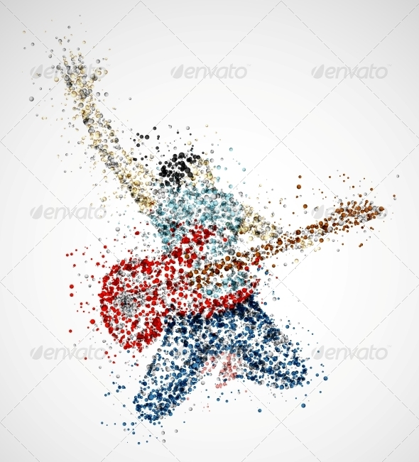 GraphicRiver Abstract Guitarist 4781229