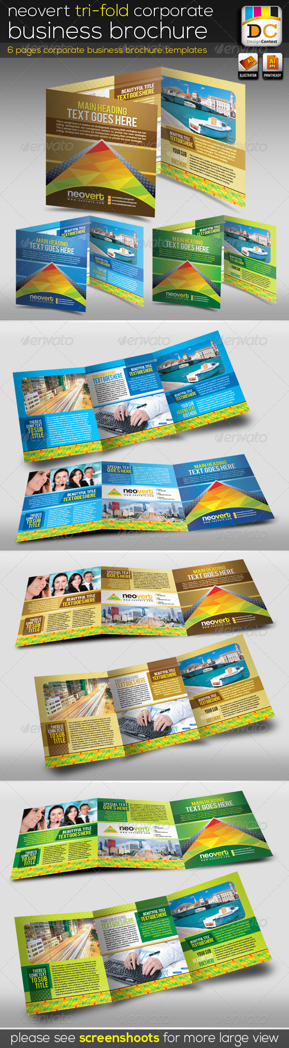 GraphicRiver NeoVert Tri-fold Corporate Business Brochure V-02 4575821