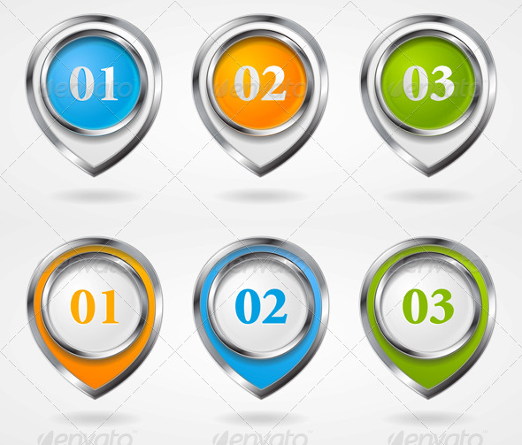 GraphicRiver Vector Infographic Elements with Metallic Frame 4782928