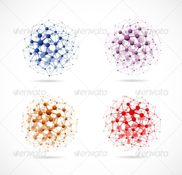 GraphicRiver Four molecular Spheres 4783106