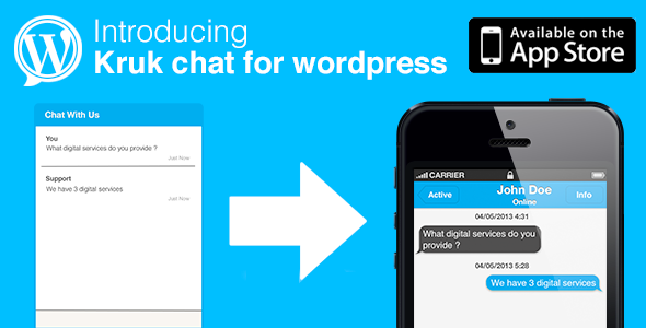 Kruk Chat Untuk Wordpress - WorldWideScripts.net Item for Sale