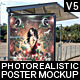 Realistic Bus Stop Flyer Poster Mockup 05 - GraphicRiver Item for Sale