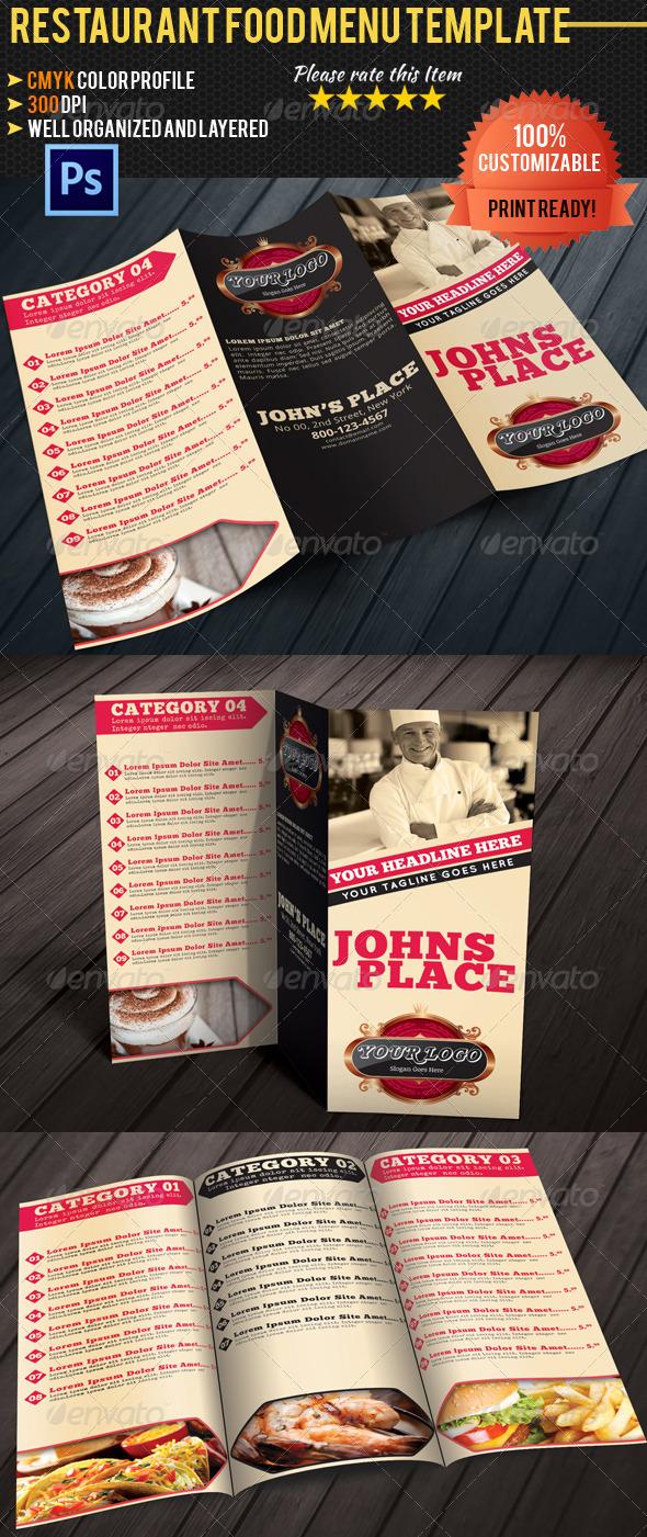 GraphicRiver Tri-fold Restaurant Food Menu Template 04 4784741