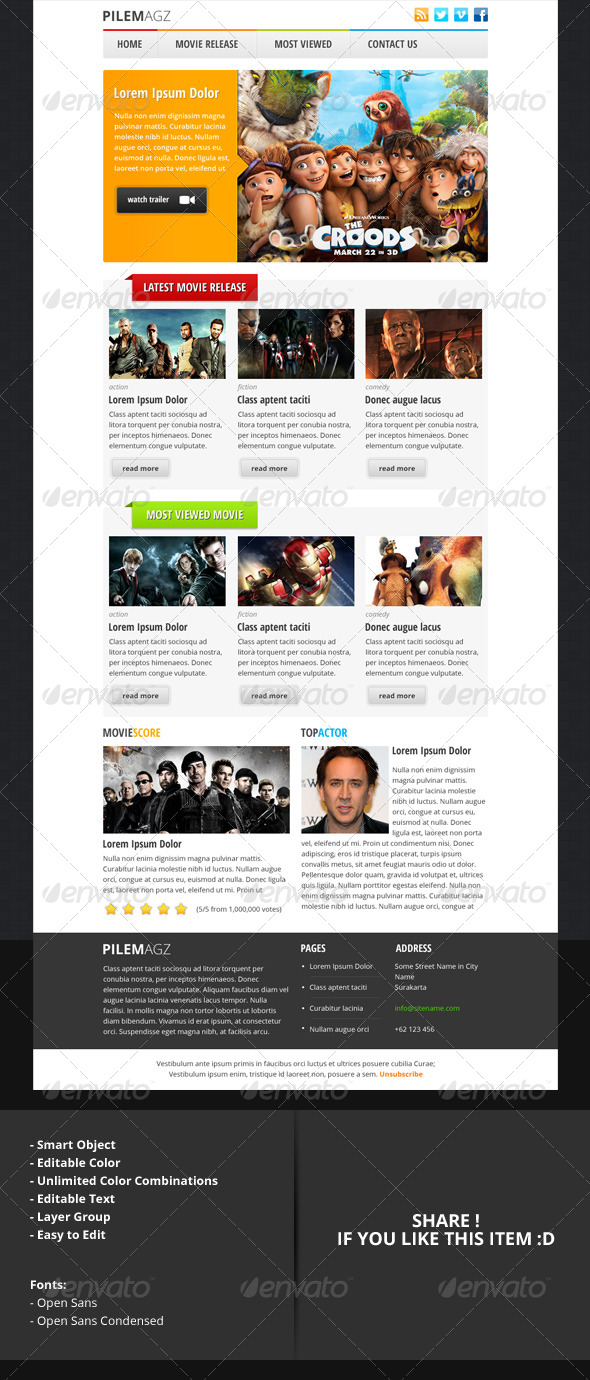 GraphicRiver pilemagz PSD Email Newsletter Template 4784847