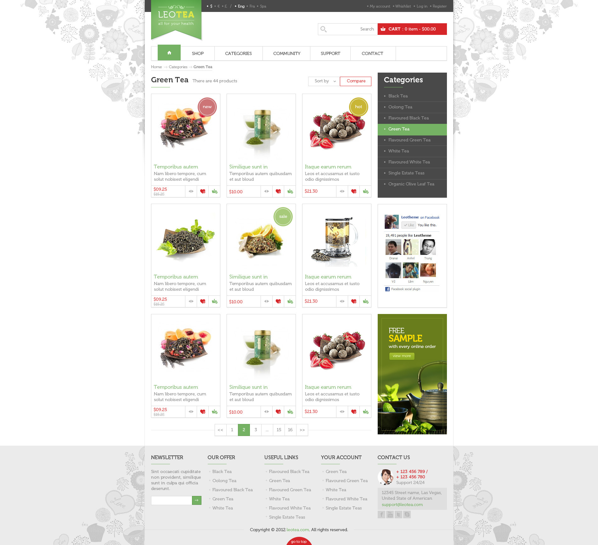Leo Tea Prestashop Theme