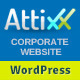Attixx - Responsive Corporate WordPress Theme - ThemeForest Item for Sale