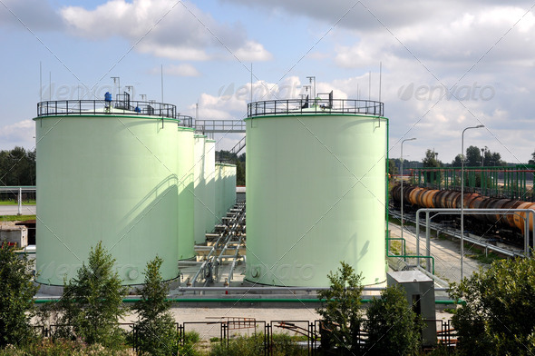 Oil Tanks - Stock Photo - Images