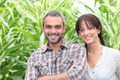 Couple in front of green plants - PhotoDune Item for Sale
