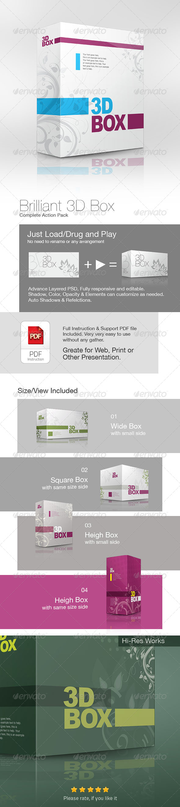 GraphicRiver Brilliant 3D Box Action Pack 4787743