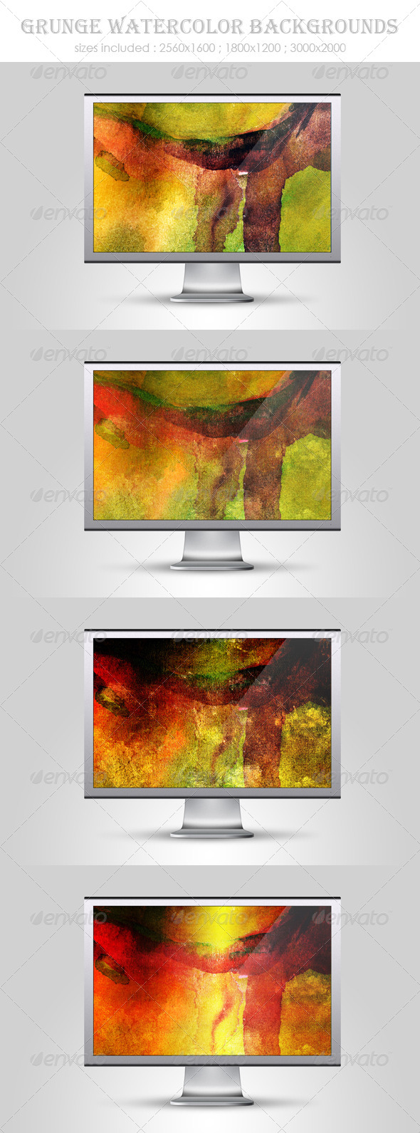 GraphicRiver Grunge Watercolor Backgrounds 4733355