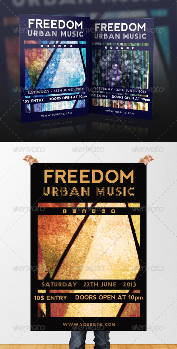 GraphicRiver Freedom Freestyle Event Flyer 4789747