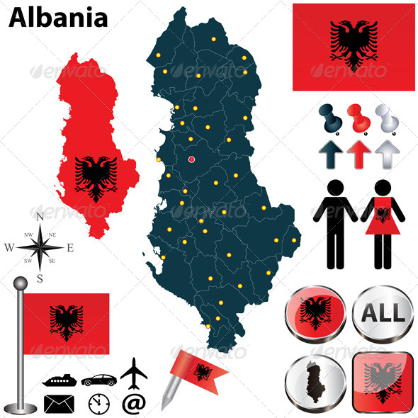 GraphicRiver Map of Albania 4790586