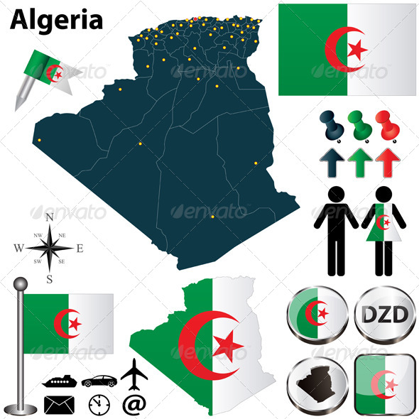GraphicRiver Map of Algeria 4790589