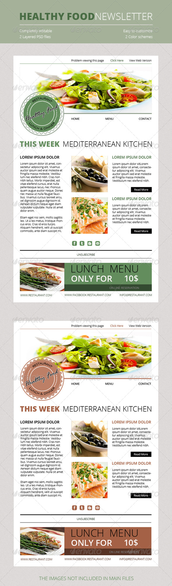 GraphicRiver Healthy Food Newsletter 4790594
