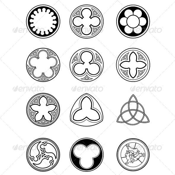 GraphicRiver Element Windows in Gothic Style 4790644