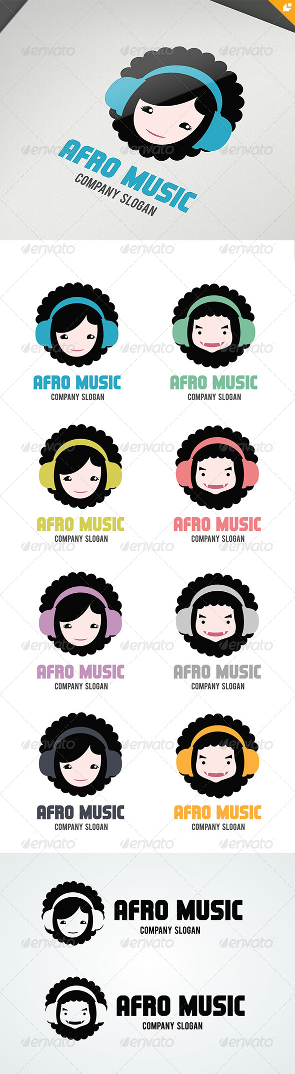 GraphicRiver Afro Music Logo 4791003