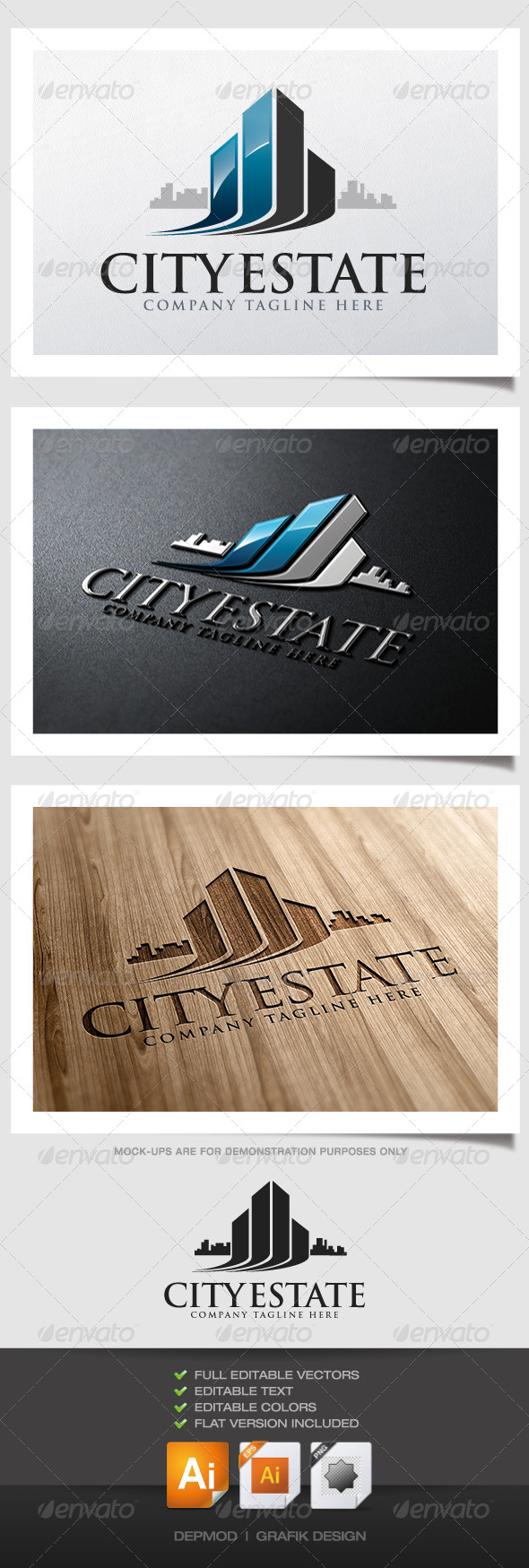City Estate Logo - Buildings Logo Templates