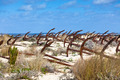 Cemetery of the old anchors, Portugal ocean coast - PhotoDune Item for Sale