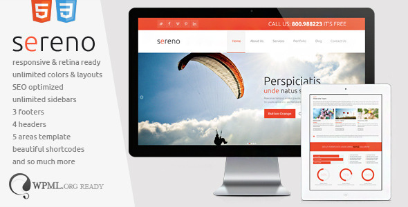 ThemeForest Sereno Fully Responsive & Retina Ready 4759538