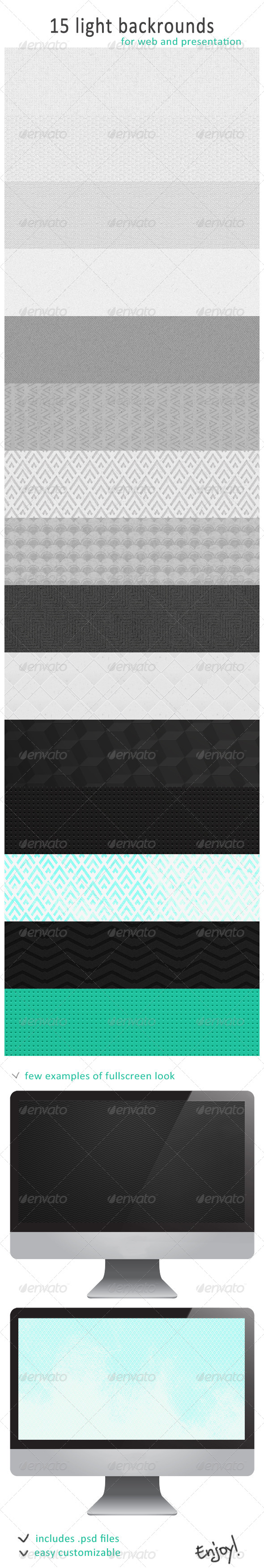 GraphicRiver 15 Light Backgrounds 4732245