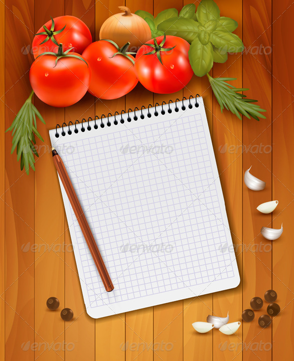 GraphicRiver Fresh Vegetables and Spices on a Wooden Background 4792972